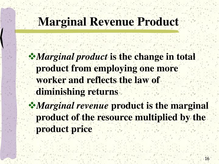 Marginal Revenue Product