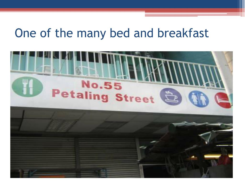 One of the many bed and breakfast