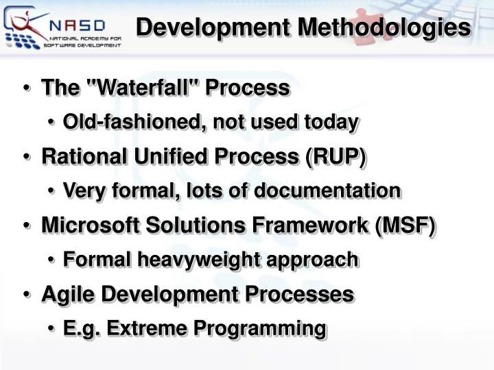 Development Methodologies