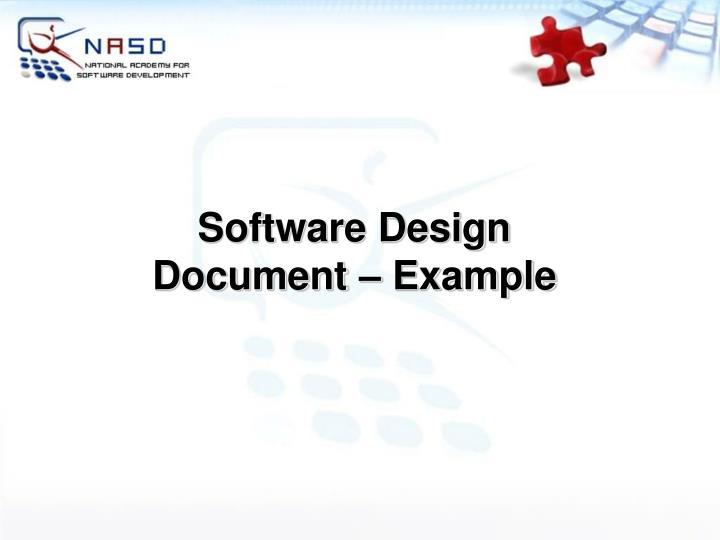 Software Design Document – Example