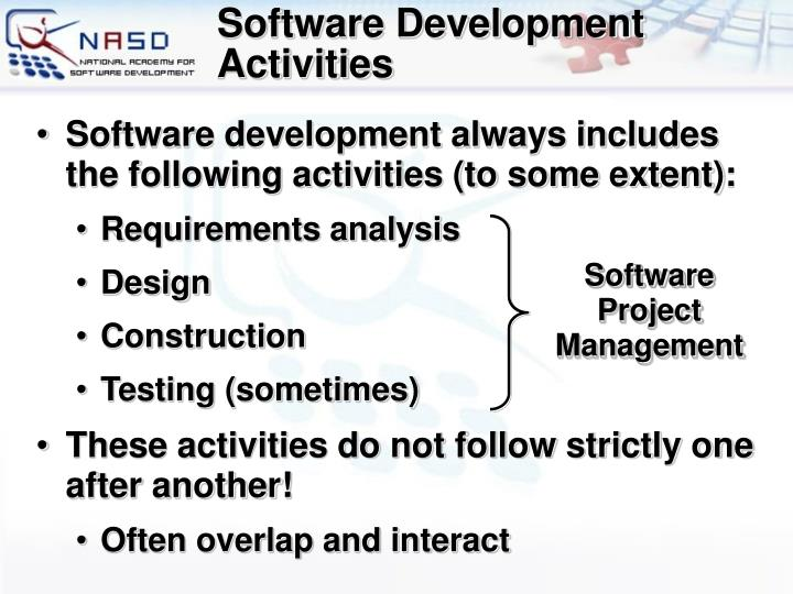 Software Development Activities