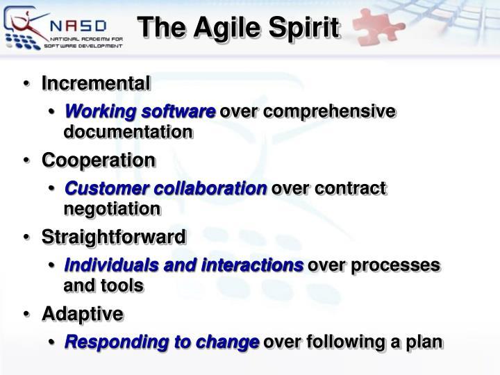 The Agile Spirit