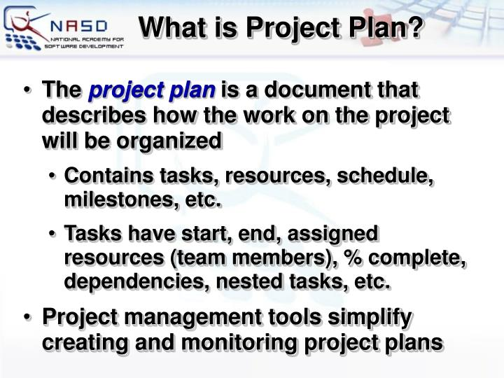 What is Project Plan?