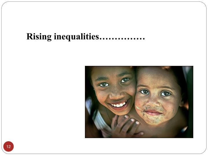 Rising inequalities……………