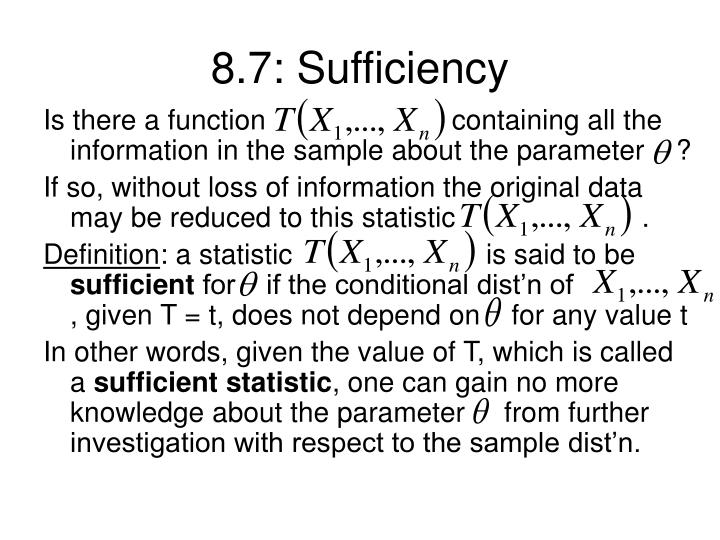 8.7: Sufficiency