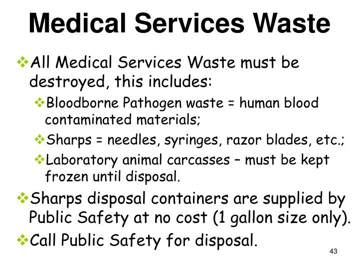 Medical Services Waste