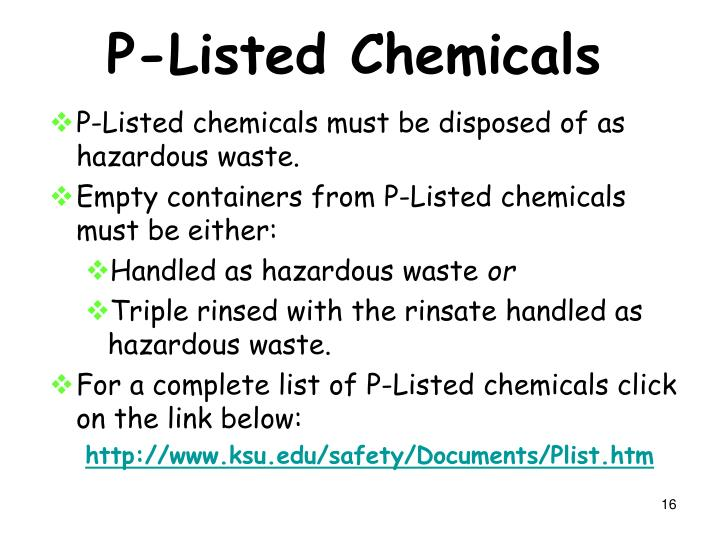P-Listed Chemicals