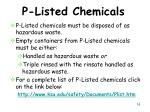 p listed chemicals
