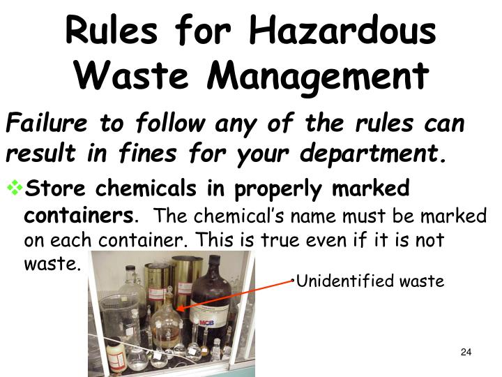 Rules for Hazardous Waste Management