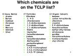 which chemicals are on the tclp list