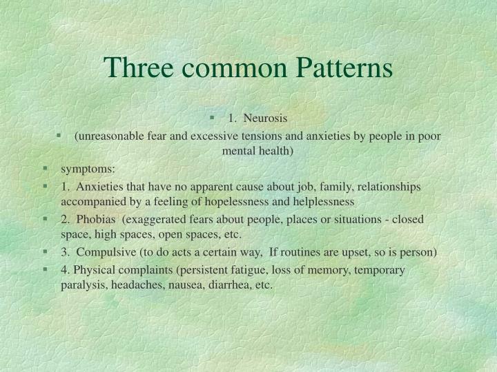 Three common Patterns