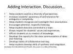 adding interaction discussion