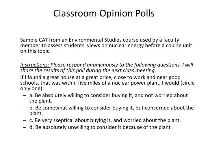 Classroom Opinion Polls