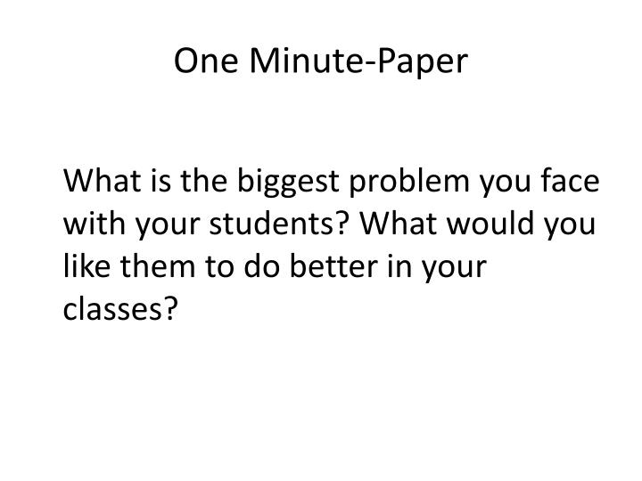 One Minute-Paper