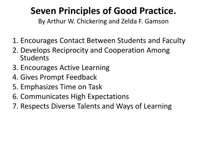 Seven Principles of Good Practice.