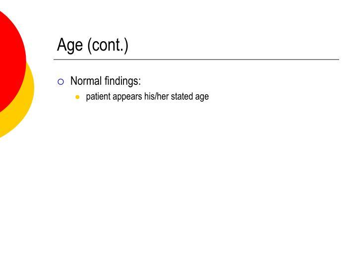 Age (cont.)