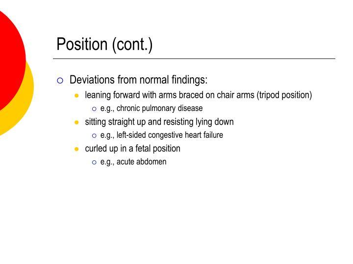 Position (cont.)