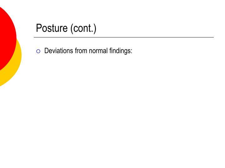 Posture (cont.)