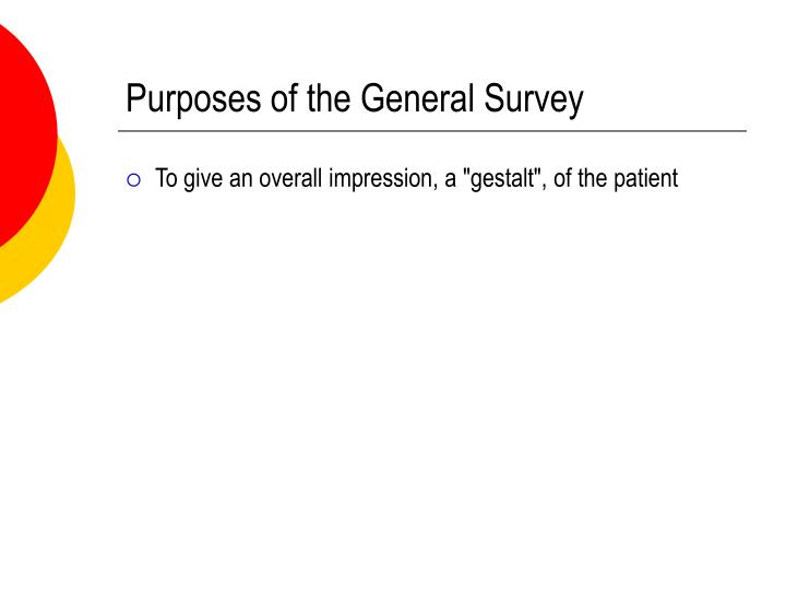 Purposes of the General Survey