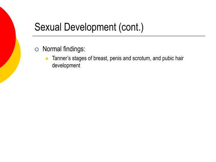 Sexual Development (cont.)