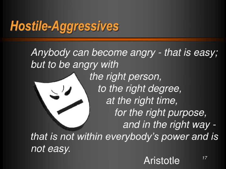 Hostile-Aggressives