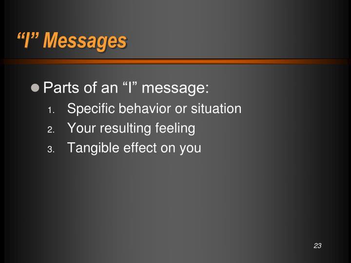 """I"" Messages"