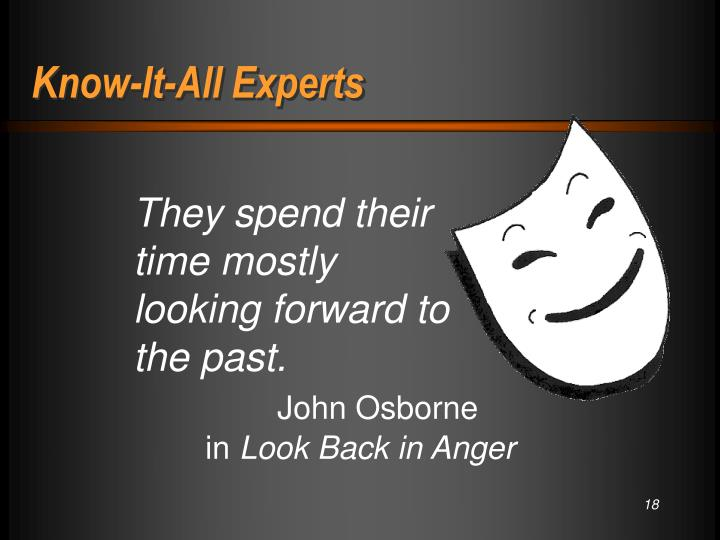 Know-It-All Experts