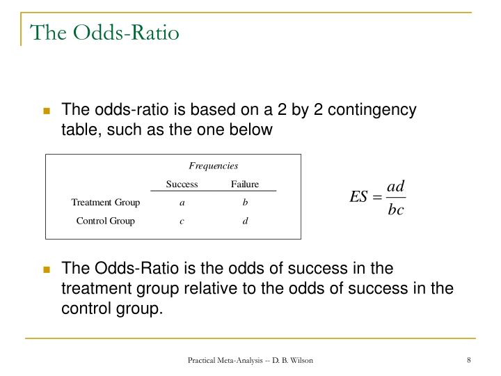 The Odds-Ratio