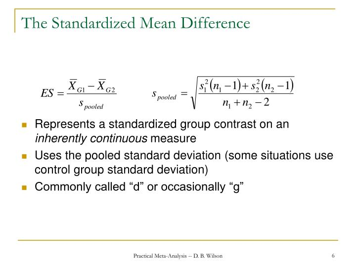 The Standardized Mean Difference