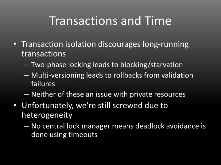 Transactions and Time