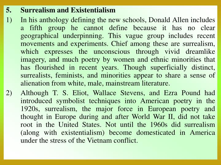 Surrealism and Existentialism
