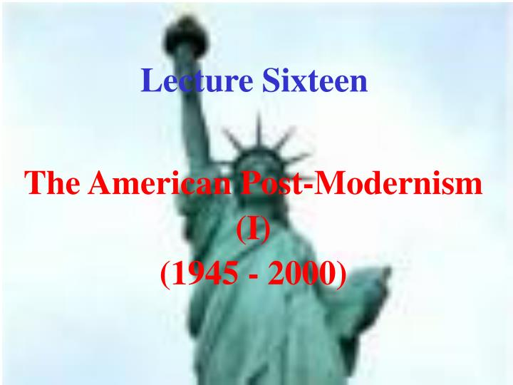 Lecture Sixteen