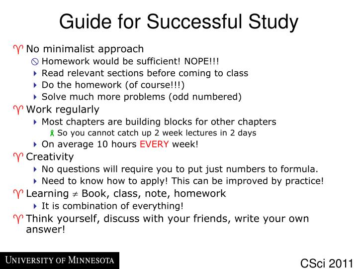 Guide for Successful Study