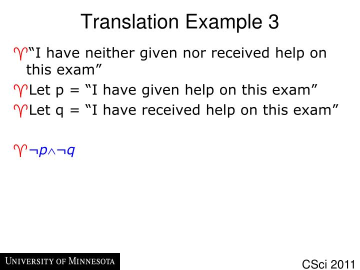Translation Example 3