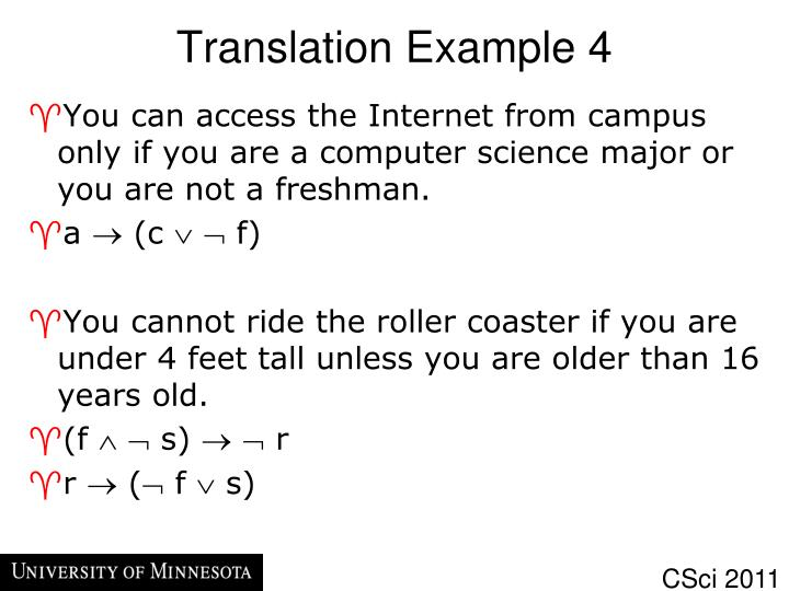 Translation Example 4