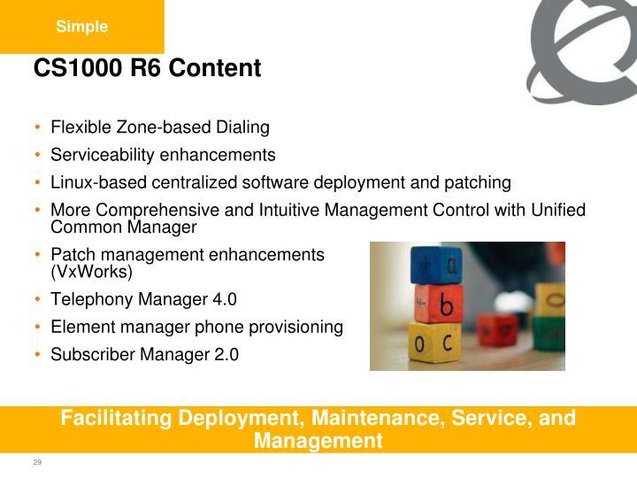 CS1000 R6 Content