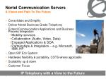 nortel communication servers a vision and path to the future