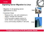 signaling server migration to linux