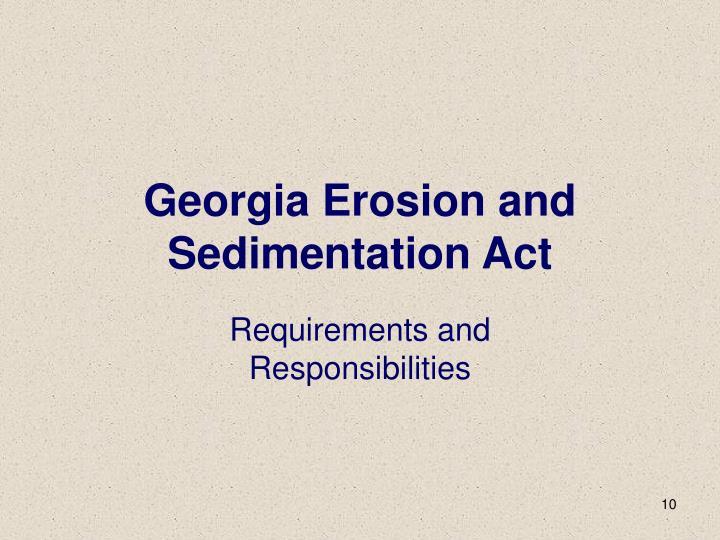 Georgia Erosion and Sedimentation Act