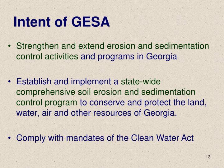 Intent of GESA