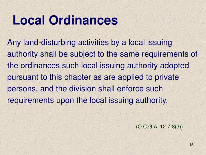 Local Ordinances