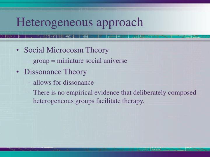 Heterogeneous approach