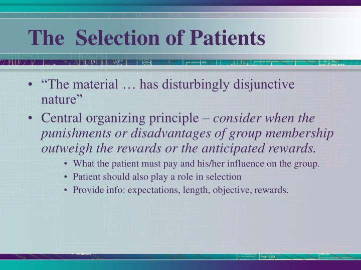 The  Selection of Patients