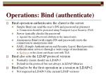 operations bind authenticate