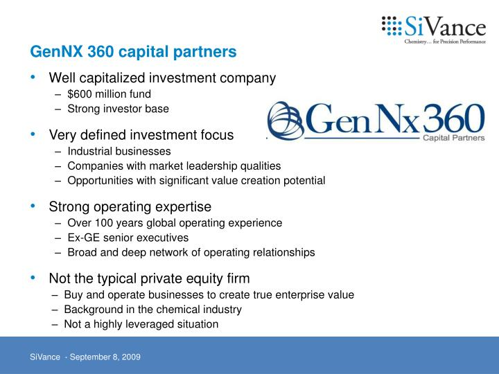 GenNX 360 capital partners