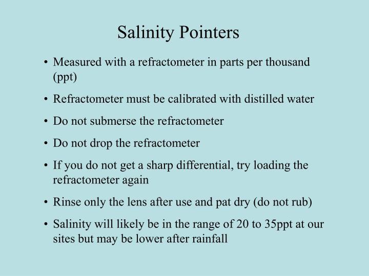 Salinity Pointers