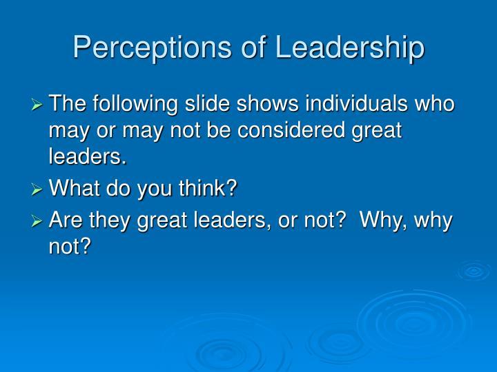 Perceptions of Leadership