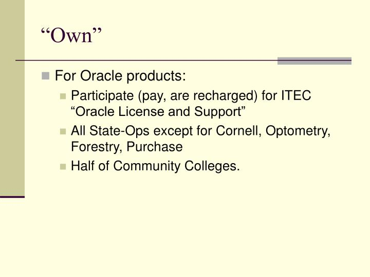 """""""Own"""""""