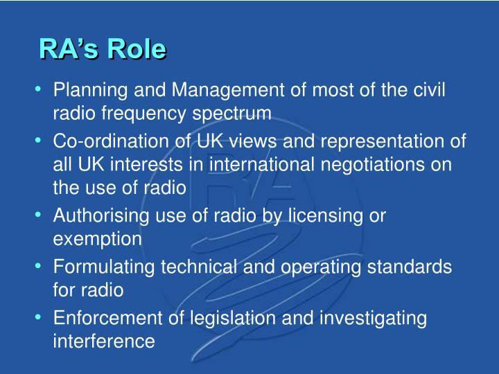 RA's Role