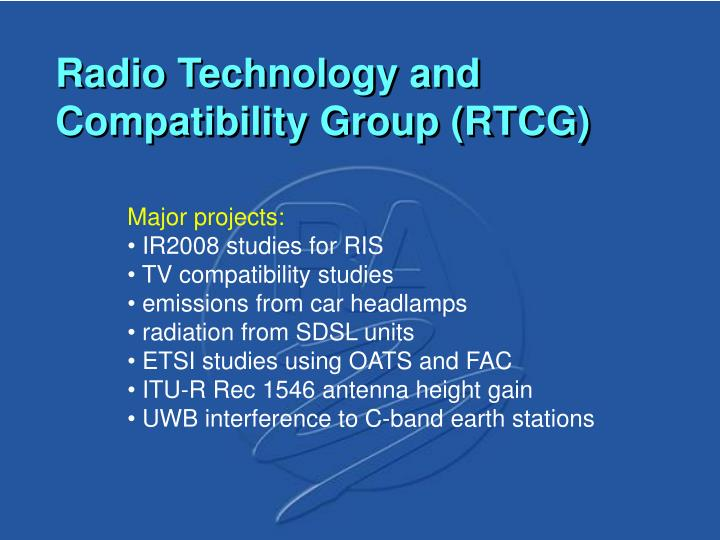 Radio Technology and Compatibility Group (RTCG)